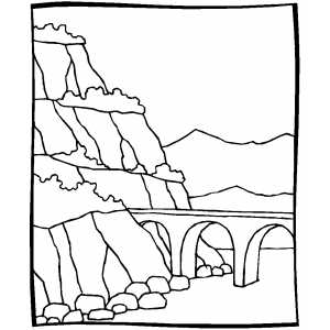 Stone Bridge coloring page