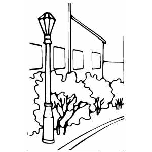 Suburb coloring page