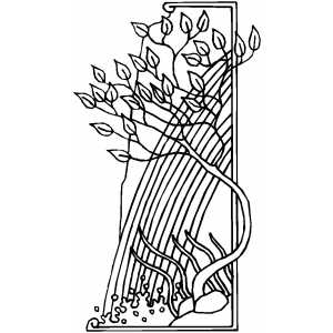 Waterfall Border coloring page