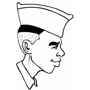 Air Force Cadet coloring page