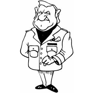 Air Force Officer coloring page