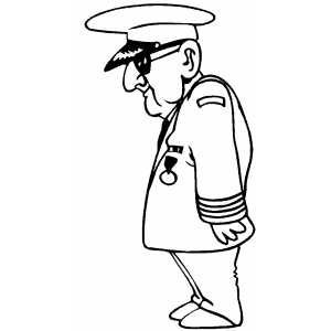 Air Force Old Officer coloring page