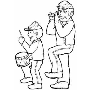 Fife And Drummer coloring page