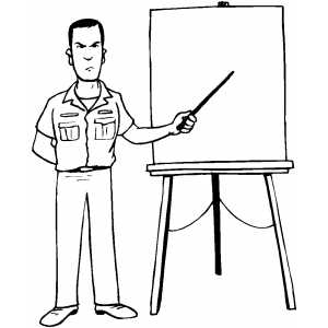 Severe Instructor coloring page