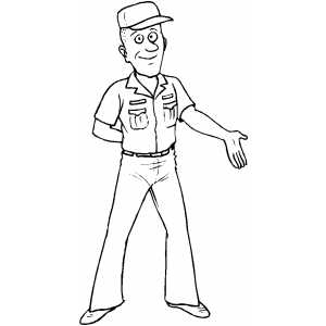 Smiling Sailor coloring page