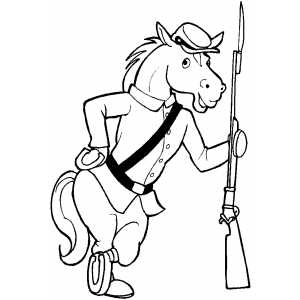 Soldier Horse coloring page