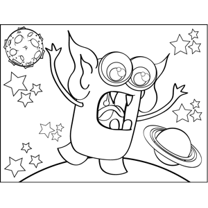 Alien Monster coloring page
