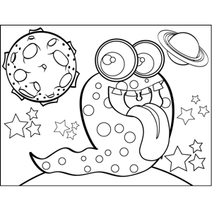Alien Slug coloring page