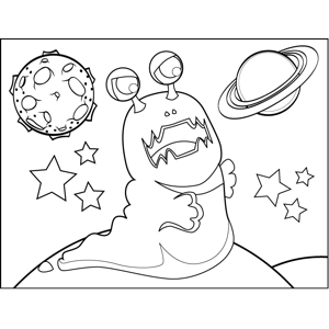 Angry Space Slug coloring page