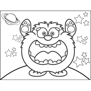 Bear Monster coloring page