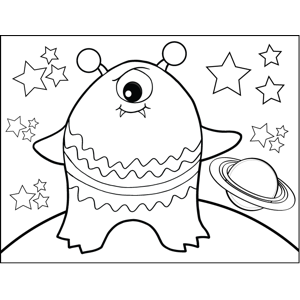 Big Monster coloring page