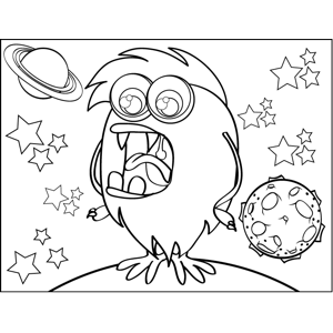 Bird Monster coloring page