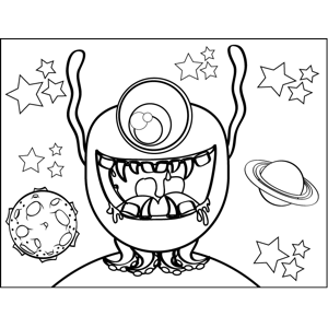 Drooling Monster coloring page
