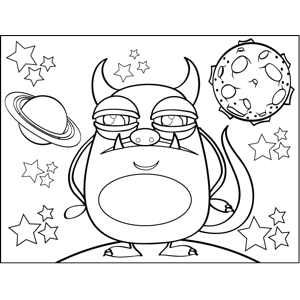 Fanged Monster coloring page