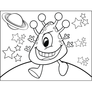 Four-Armed Cyclops coloring page