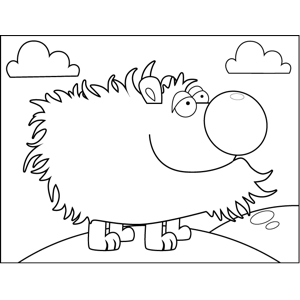 Hairy Creature coloring page