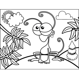 Insect Monster coloring page