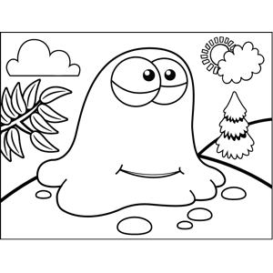 Jelly Monster coloring page