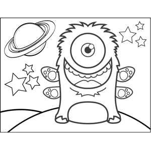Monster with Paws coloring page