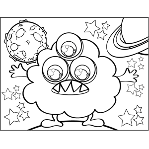 Puffy Monster coloring page
