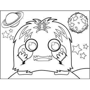Shaggy Monster coloring page