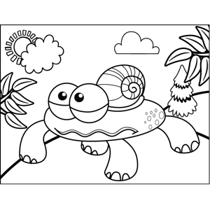 Snail Monster coloring page