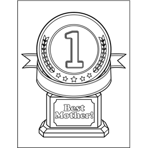 Best Mother Trophy coloring page