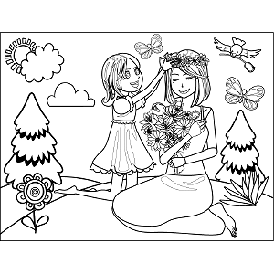 Cute-Mothers-Day-Coloring-Page-4 coloring page
