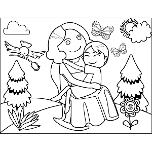 Cute Mothers Day Coloring Page 5 Coloring Page