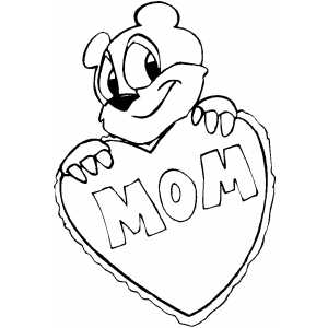 Mom Bear coloring page