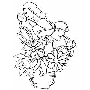 Mothers And Babies coloring page