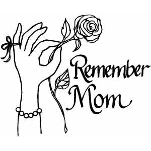 Remember Mom coloring page