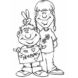 To Mommy coloring page