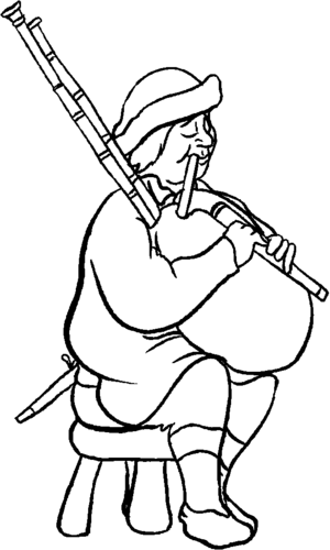 Bagpipe Player coloring page