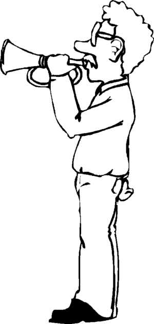 Bugle Boy coloring page