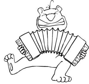 Chipmunk Playing Accordion coloring page