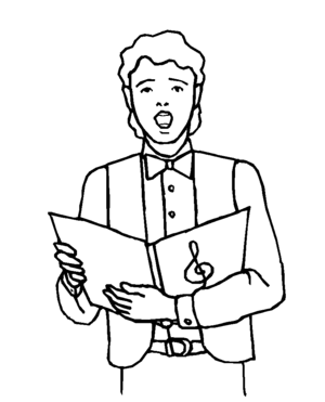 Choral Boy Singer coloring page