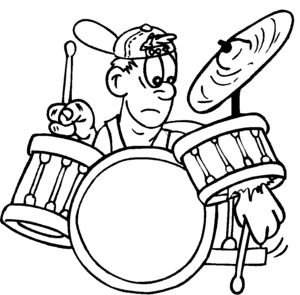 Drummer Boy coloring page