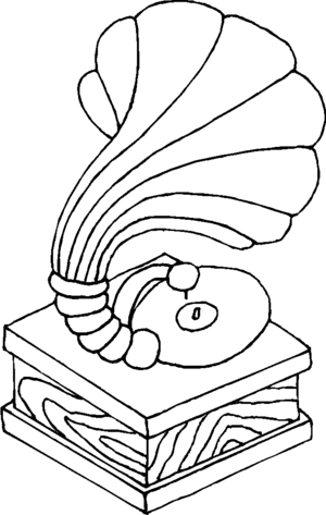 Gramophone coloring page