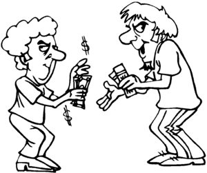 Scalper coloring page