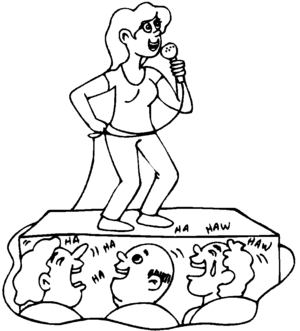Scene Singer Coloring Page