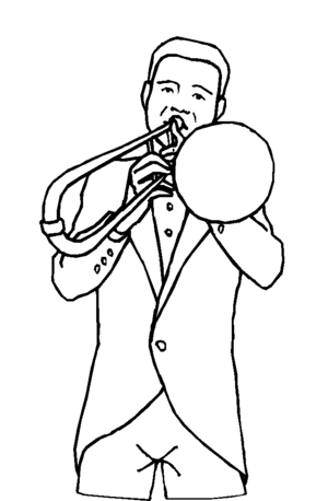 Trombone Player Coloring Page