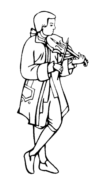 Violinist coloring page