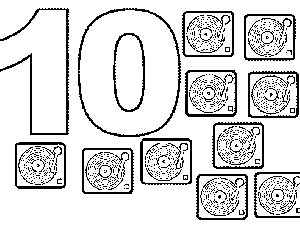 10 Turntables coloring page