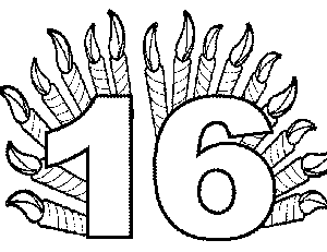 16 Candles coloring page