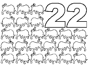 22 Bulls coloring page