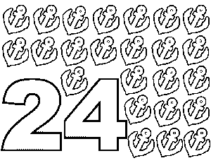 24 Anchors coloring page