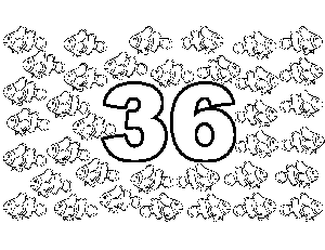 36 Clown Fish coloring page