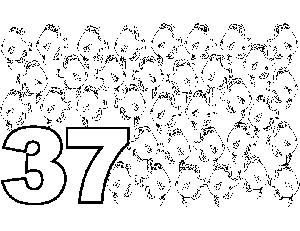 37 Fish coloring page