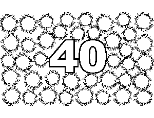 40 Fuzzy Urchin coloring page